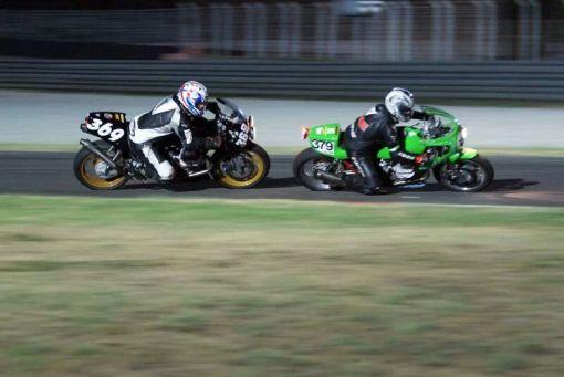 Guzzis racing through the night